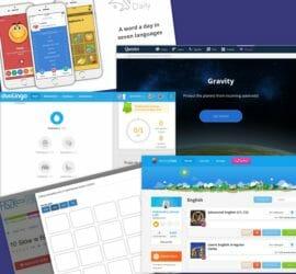 Najlepsze moim zdaniem aplikacje do nauki słówek angielskich: Quizlet, Memrise, Duolingo, Lingolia Daily, Fiszkoteka
